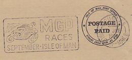 1975 Isle Of Man COVER  SLOGAN Illus MGP RACES MOTORBIKE  Motorcycle Racing Sport Sramps