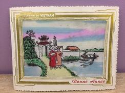 Carte Postale Souvenir Du Vietnam 1954 - Nouvel An