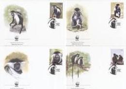 Angola 2004, WWF, Monkeys, 4FDC