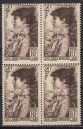 FRANCE 1945 - BLOC DE 4 TP - Y.T. N° 738 - NEUFS** / FD573
