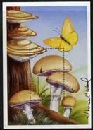 Angola 1999, Mushrooms, Psalliota, BF Signed By Thomas C. Wood The Designer