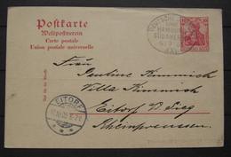 Weltpostverein Ganzsache Deutsche Seepost Linie Hamburg Südamerika 06.09.1905