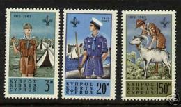 Cyprus 224-6 MNH Scouts, Animals