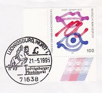 1993 Ludwigsburg Germany HORSE SHOWJUMPING COVER  EVENT Pmk Stamps Horses Sport Equestrian