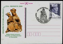 904-POLAND Postal Card-imprint 2000 Year Christianisation Sculpture Mother Of God Przemysl Philatelic Exhibition 2000