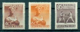 POLAND 1953 Mi 802-04** European Boxing Championships [L 1840]