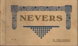 58 -BLOC CARNET ENTIER  - NEVERS  - 20  CARTES POSTALES DETACHABLE DU CARNET - Nevers