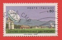 1968 (1104) Centro Telespaziale Del Fucino - Leggi Il Messaggio Del Venditore