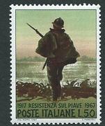 Italia, Italy; 50° Della Resistenza Sul Piave. Soldato Armato , Nel 1917.