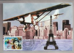 Carte 1er Jour - 15.04.2000 - Paris (75) - 0,46 EUR. Charles Lindberg - Le Siècle Au Fil Du Timbre - Flieger