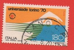 1970 (1126) Universiade Torino Lire 180 - Leggi Messaggio Del Venditore