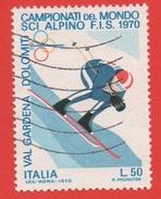 1970 (1116) Campionati Del Mondo Di Sci Alpino Lire 50 - Leggi Messaggio Del Venditore
