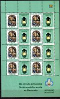 2014/6 Slovakia - 25 Years Of Arrival Of Bethlehem Light To Slovenia - Scouting Of Slovenia - Sheetlet Of 8 V ZD - MNH**