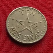Ghana 10 Pesewas 1965 KM# 9 Gana - Ghana