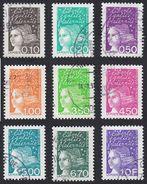 FRANCE Francia Frankreich - 1997 - Lotto 9 Valori Usati Yvert 3086, 3087, 3088, 3089, 3092, 3096, 3097, 3098, 3099