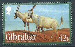 GIBRALTAR 2012 ENDANGERED ANIMALS II ARABIAN ORYX USED NOT CANCEL