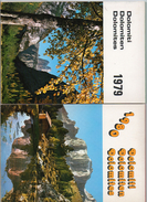 2 Calendari Dolomiti Dolomiten 1979 1980 Val Gardena Foto Ghedina Da Tavolo O Parete Perfetti - Calendari