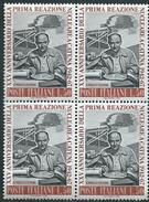 Italia 1967; Enrico Fermi, 25° Della Prima Reazione Nucleare A Catena. Quartina