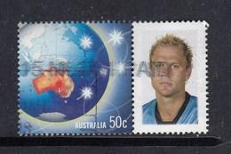Australia P Stamp FU -  Footballer?