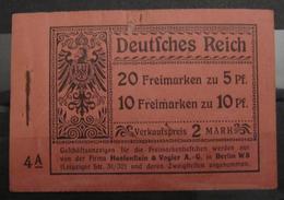 Dt. Reich MH 3.3 Original Geklammert Ohne Marken, Booklet Without Stamps, Original Value 13.000,-