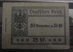 Dt. Reich MH 6 Original Geklammert Ohne Marken, Booklet Without Stamps, Original Value 1600,-