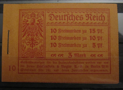 Dt. Reich MH 12 Original Geklammert Ohne Marken, Booklet Without Stamps, Original Value 300,-
