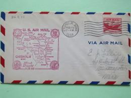 USA 1948 First Flight Cover Chisholm (Milwaukee Back Cancel) To Minneapolis - Plane - Map - Brieven En Documenten
