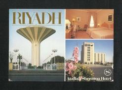 Saudi Arabia Picture Postcard Riyadh Sheraton Hotel 3 Scene View Card