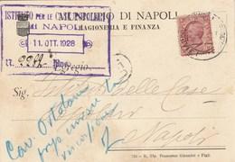 6004.   Da Municipio Napoli Ragioneria E Finanza A Istituto Case Popolari 1928