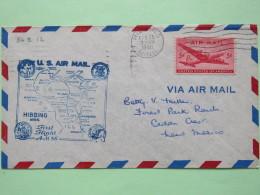 USA 1948 First Flight Cover Hibbing (Milwaukee Back Cancel) To Cedar Crest - Plane - Map - United States