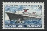 """Yt 1325 """" 1er Voyage Du Paquebot France """" 1962 Neuf** - France"""