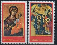 PIA - GRECIA. - 1978 : Natale : Icone Del Monastero Stavronikita Del Monte Athos  -   (Yv 1310-12)
