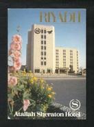 Saudi Arabia Picture Postcard Riyadh Atallah Sheraton Hotel  View Card - Arabie Saoudite