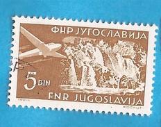 1951  689  WASSERFAELLE  PLITVICE CASCADE AEREO  JUGOSLAVIJA JUGOSLAWIEN  USED