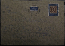 1949, 100 Jahre Dt. Briefmarken 30 Pf. (kurze Ecke), Mi. 115, Brief Letter, Value 130,-