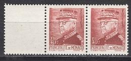 MONACO 1941 N° 225 EN PAIRE NEUFS **