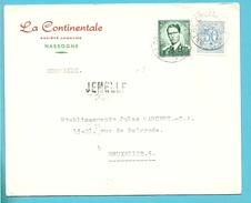854+1006 Op Brief (Nassogne) Met Treinstempel (ambulant) ARLON-BRUXELLES 2 Met Naamstempel JEMELLE