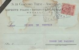 6006.   Da S. Di Giacomo Trevi Filati Cotoni Canape Metalli Ancona A Torre De' Passeri Pescara 1904