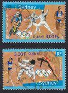 FRANCE Francia Frankreich - 2000, Série Complète Oblitérée Yvert 3340/3341 - Jeux Olympiques De Sydney (Australie)