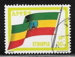 Ethiopia, Scott # 1284 Used Flag, 1990
