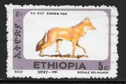 Ethiopia, Scott # 1372A Used Simien Fox, 1994