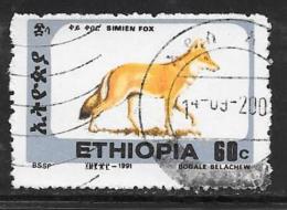 Ethiopia, Scott # 1372Gused Simien Fox, 1994