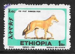 Ethiopia, Scott # 1372J Used Simien Fox, 1994