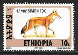 Ethiopia, Scott #1393B Mint Hinged Simien Fox, 1994
