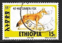 Ethiopia, Scott #1393C Used Simien Fox, 1994