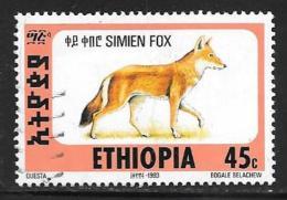 Ethiopia, Scott #1393I Used Simien Fox, 1994