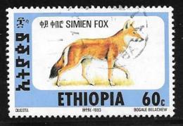 Ethiopia, Scott #1393L Used Simien Fox, 1994