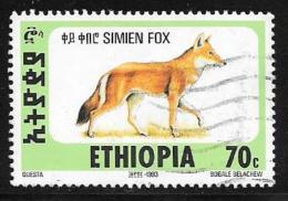 Ethiopia, Scott #1393N Used Simien Fox, 1994