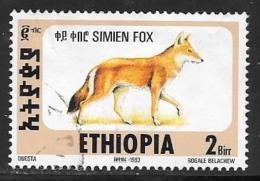 Ethiopia, Scott #1393T Used Simien Fox, 1994
