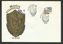 Portugal Cachet Commémoratif  Sapeurs-Pompiers Vila Real De Santo Antonio 1980 Event Postmark On Card Firefighters